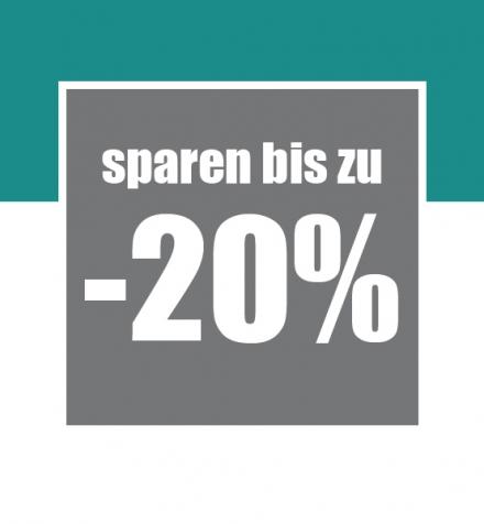 Sparen Sie bis zu 20%