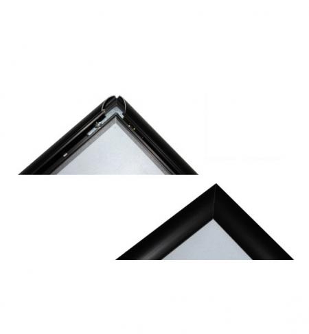 Plakatständer Gehrung Schwarz mit Klappsystem