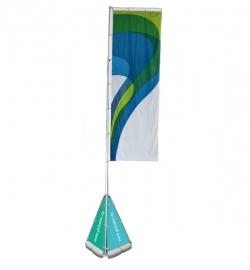 Fahnenmast Giant Flag mit Clips